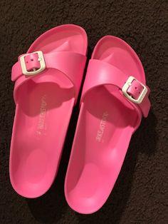 20cc527b1a4b2 Birkenstock Madrid Waterproof Slide Foam Sandals Pink Women Sz 8.5  DISCONTINUED  fashion  clothing