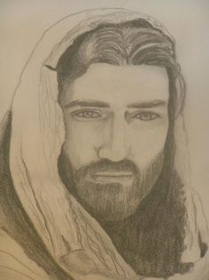 My very favorite Jesus portrait, done in about 20 minutes with a room full of kids.