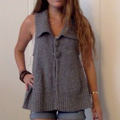 Knit Gray Sweater Vest