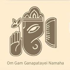 this is one of the mantas of Lord Ganesha. Lord Ganesha is the master of wisdom and knowledge Ganesha Art, Lord Ganesha, Om Gam Ganapataye Namaha, Yoga Mantras, Beautiful Rangoli Designs, Shiva, Krishna, Yoga Inspiration, Face And Body