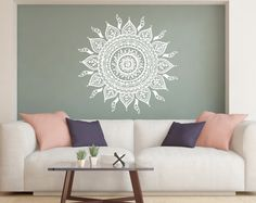 Mandala Wall Decal Lotus Flower Decals Bohemian Decor Wall
