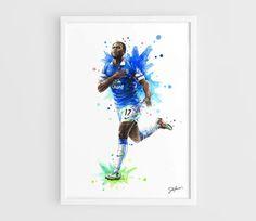 Romelu Lukaku Everton FC Chelsea FC  A3 Art Prints of by NazarArt, $20.00