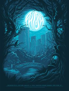 Screenprint for Phish and their 4 night run at Madison Square Gardens over new years eve 5 Colour screenprint, Small AP edition. Signed, embossed and numbered. by Dan Mumford Phish Posters, Omg Posters, Concert Posters, Awesome Posters, New York Poster, Dan Mumford, Acid Trip, Kunst Poster, Geek Art