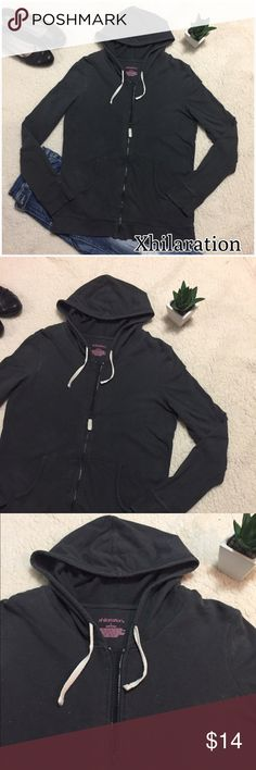 Xhilaration Zip Hoodie Jacket -EUC Only worn a hand full of times, Darker Gray with multicolored specks. It says sleep but I wore it as a just a jacket, no flaws. TTS Xhilaration Jackets & Coats