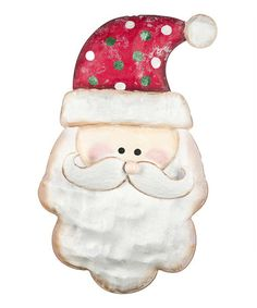 Take a look at this Green & White Hat Santa Wall Art by GANZ on #zulily today!