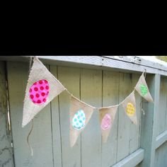 Burlap Easter flags!