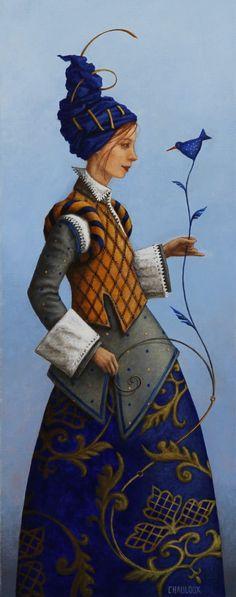 La Dame à l'oiseau fleur by Catherine Chauloux