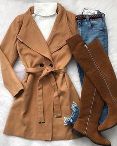 Express Shipping Women S Fashion Info: 8704206912 Warm Outfits, Fall Fashion Outfits, Casual Winter Outfits, Chic Outfits, New Outfits, Trendy Outfits, Winter Fashion, Mode Hijab, Western Outfits