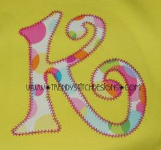 Pizazz Font 4x4 and 5x7 Applique Machine by trendystitchdesigns, $6.50