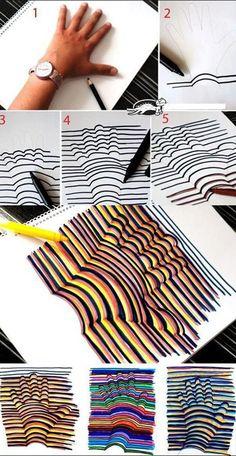 Cool hand pattern