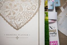 Lacy Love Heart Wedding Planner Book - Wedding in a Teacup