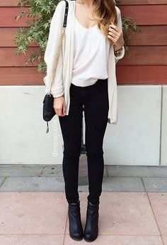skinnies and sweater