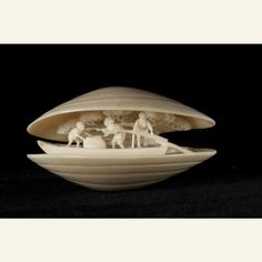 Netsuke: Pleasure Boat    Japan, 19th century    The Metropolitan Museum of Art