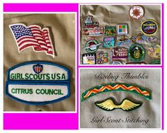 Girl Scout patch sewing and embroidery Vest