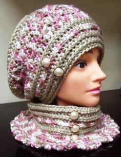 Cats-Rockin-Crochet, Free Crochet and Knit Patterns: Robyn's Beret Crochet Hat Pattern