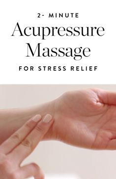 Try these acupressure massage tricks to get rid of stress right from your desk.