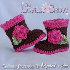 Ravelry: Booties Sugar and Spice Boots pattern by Elizabeth Alan