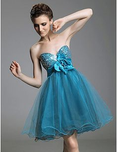 TS Couture® Cocktail Party / Prom / Sweet 16 / Holiday Dress - Short Plus Size / Petite A-line / Princess Strapless / Sweetheart Short / Mini Tulle 143405 2016 – $79.99
