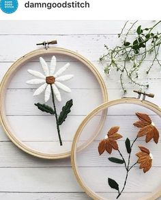 Wonderful Ribbon Embroidery Flowers by Hand Ideas. Enchanting Ribbon Embroidery Flowers by Hand Ideas. Embroidery Hoop Crafts, Floral Embroidery Patterns, Hand Embroidery Stitches, Silk Ribbon Embroidery, Hand Embroidery Designs, Embroidery Monogram, Cross Stitch Embroidery, Embroidery For Beginners, Embroidery Techniques