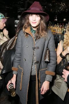 Alexa Chung and other leading ladies showcase the 70's inspired hat trends, here: