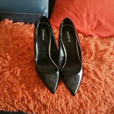 Express black heels Express black heels. Offers are welcome Express Shoes Heels
