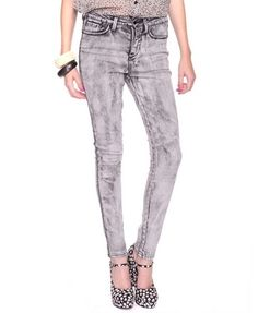 Acid Wash Skinnies - JEANS - 2000018551 - Forever21 - StyleSays