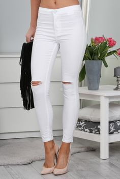 Spodnie Białe BB11058