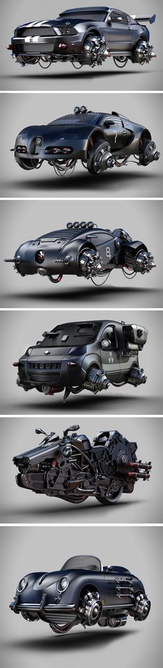 50% impossible, 50% real vehicle, and 100% awesomeness, the Apocalyptic Vehicle series by Jomar Machado gives us a taste of what our rides would look like if the world collapsed into collective chaos.