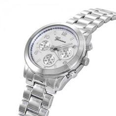 Srebrny zegarek Damski Męski Unisex GENEVA CLASSIC kwarcowy