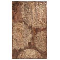 Cuadro esculpido de madera dorada 50 x 82 cm | Maisons du Monde