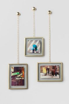 Gold Fotochain Photo Display Set of 3