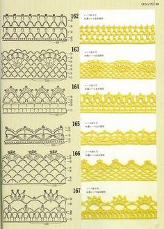 patrones de borde crochet