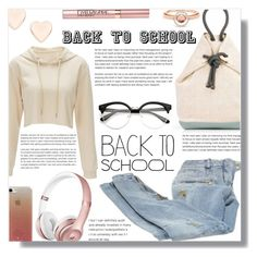 """Back to school - Contest!"" by sarahguo ❤ liked on Polyvore featuring Balmain, Ted Baker, Marie Mas, Kate Spade, L'Oréal Paris, BackToSchool and sweatshirtsitwithus"