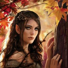 Noldor elv in autumn forest...>>>Kinda ths way I imagine Mailinneth, not really, though.