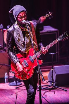 Nothing but the blues (and a red guitar). Recent GRAMMY winner Gary Clark Jr. digs deep during a performance on March 3 in Cleveland