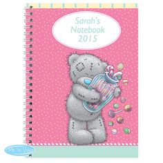 Secret thoughts or a novel in the making - personalise this or other Tatty Teddy style notebooks