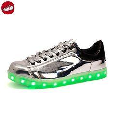(Present:kleines Handtuch)Silber EU 37, Schuhe Herren Lackleder 43 Sportschuhe Farbe Weiß für Top Damen JUNGLEST® Größe Unisex-Erwachsene Sport 7 USB Turnschuhe Aufladen