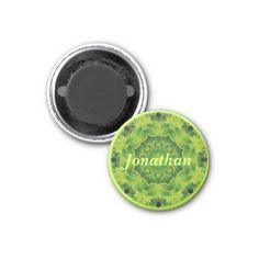 Personalised Name Kaleidoscope Magnet - Sold to a customer in Australia  - Kaleidoscope Kreations @ http://www.zazzle.com/charmainezoe