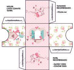 Convite Caixa Tampa Jardim Encantado Provençal