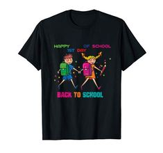 Happy First day of school Back to school Shirt Gift First Day Of School, Back To School, School Shirts, Branded T Shirts, Fashion Brands, Amazon, Mens Tops, Student Teacher, Future