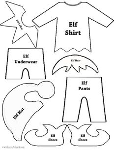 Elf Your Self free templates, patterns and printables by