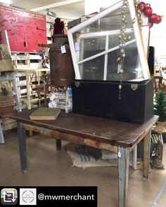 Repost from @mwmerchant using @RepostRegramApp - Need an Industrial Metal Shop Table?! Love the patina on this! Great for heavy duty jobs or even crafting! #mustget #youneedthis #crafter #fortheloveofvintage #vintage #love #rusticdecor #shoptable #abilene #abilenetx #texas @rustandrosesabilenetx #mwmerchantabilenetexas @fab5abilenetx