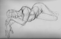 People draw anything... That's happy, relaxed, sad, depressed, angry and every other emotion. This posture is remarkable for relaxing or saddening sketches.
