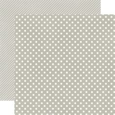 Echo Park - Soda Fountain Dots and Stripes Collection - 12 x 12 Double Sided Paper - Seltzer Grey Small Dot at Scrapbook.com $0.89