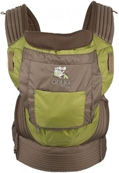 Chocolate Chip/Olive Green Onya Baby Outback | $139 | www.EcoBuns.com