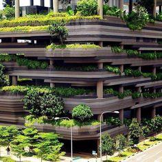 Park Royal on Pickering, ein Luxushotel, in Singapur Architecture Design, Green Architecture, Futuristic Architecture, Sustainable Architecture, Amazing Architecture, Landscape Architecture, Landscape Design, Garden Design, Contemporary Architecture