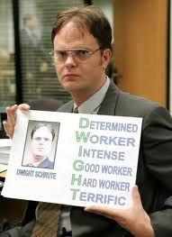 A lesson from Dwight...need to create a PPT for reviews on how awesome we are!