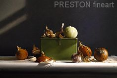 ONIONS AND GARLIC by Larry Preston Oil ~ 12 x 18