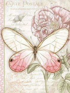 Butterfly, butterfly - transfer pictures, PaGi Decoplage The Effective Pictures We Offer You About Decoupage letters A quality picture can tell you many things. You can find the most beautiful picture Decoupage Vintage, Vintage Butterfly, Butterfly Cards, Pink Butterfly, Paper Butterflies, Vintage Cards, Vintage Paper, Vintage Pictures, Vintage Images