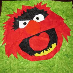 Muppet character quilt squares